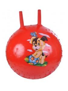 Надувной мяч-прыгун Собачка 38 см + насос