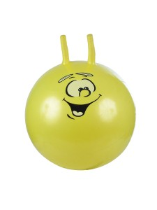Надувной мяч-прыгун Смайлик 55 см + насос