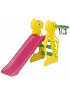 Детская пластиковая горка Бегемот
