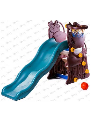 Детская пластиковая горка Гиппопотам