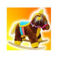 Детская мягкая качалка Пони