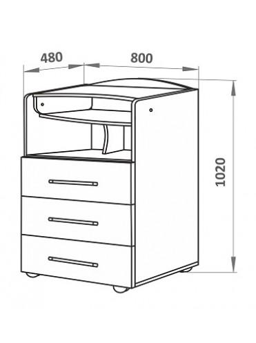 Комод с пеленальным столиком СКВ-700018