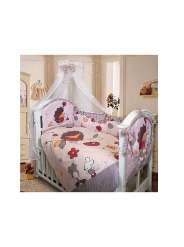 Комплект в кроватку Золотой Гусь Ёжик Топа-Топ 8 предметов