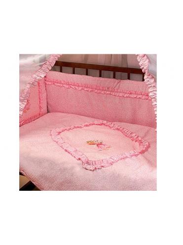 Комплект в кроватку Мальвина с аппликацией 7 предметов