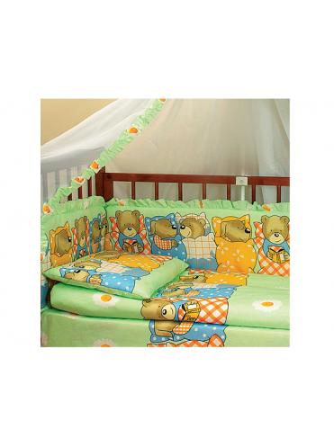 Комплект в кроватку Мишка-лежебока 7 предметов