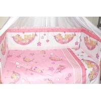 Комплект в детскую кроватку Мишка в гамаке 7 предметов