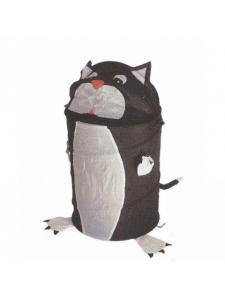 Корзина для игрушек Кот черный