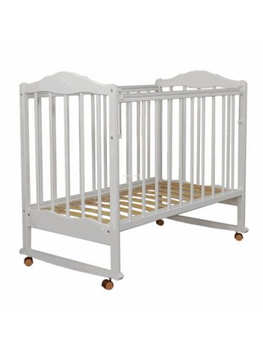 Детская деревянная кроватка Митенька-2 (СКВ-2) колесо-качалка, автостенка