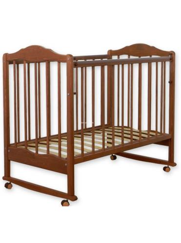 Детская деревянная кроватка СКВ-2 колесо-качалка, автостенка