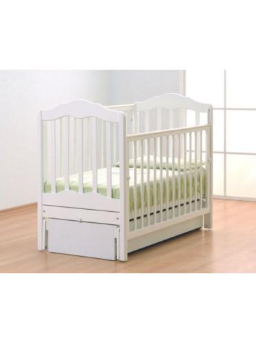 Детская кроватка Анастасия маятник белый Gandylyan
