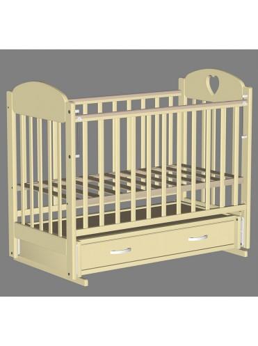 Детская деревянная кроватка Иришка 3 маятник ящик сердечко
