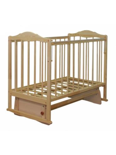 Детская деревянная кроватка Митенька-2 ПВХ автостенка, маятник