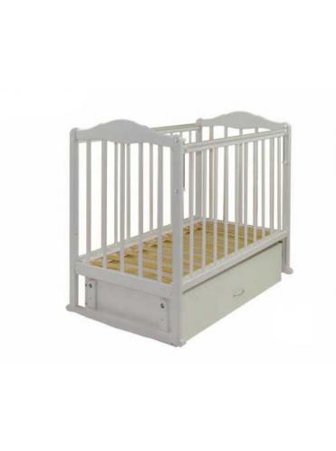 Детская деревянная кроватка СКВ-2 автостостенка, закрывающийся ящик, маятник
