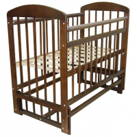 Детская деревянная кроватка Ивашка 9 маятник продольного качания