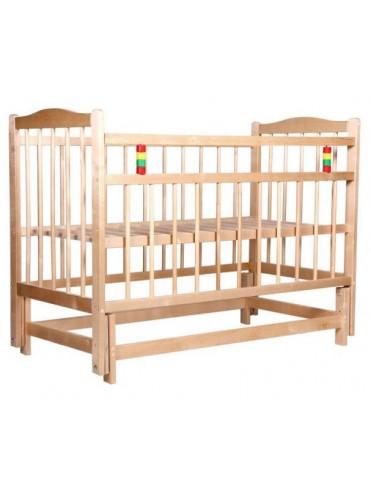 Детская деревянная кроватка МЕГА ПРОМТЕКС поперечный маятник