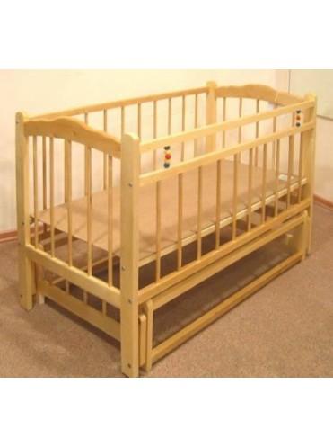 Детская деревянная кроватка Урень Ладушка маятник
