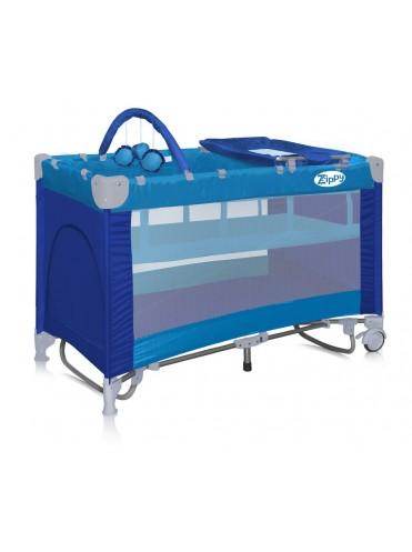 Кровать манеж Bertoni Zippy 2 уровня плюс Roker с дугами для качения