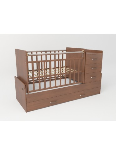 Кроватки трансформеры для новорожденных 5 ящиков с маятником