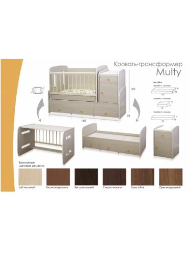 Кроватки трансформер Multy