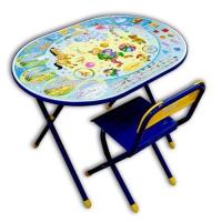 Набор детской мебели Деми ОВАЛ цирк (синий, розовый)