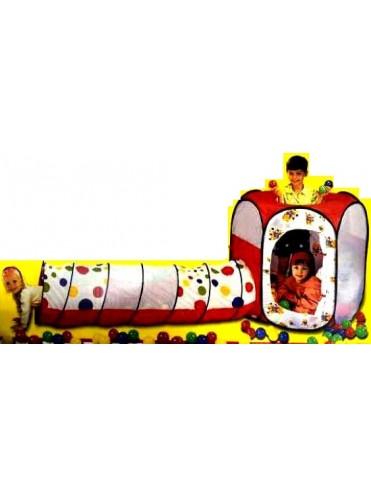 Игровой домик Шестигранник с туннелем (100 шаров)