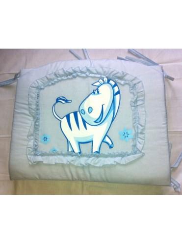Бортик в детскую кроватку Зоопарк