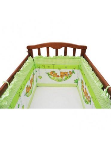 Бортик в детскую кроватку МИШКИ В ГАМАКЕ