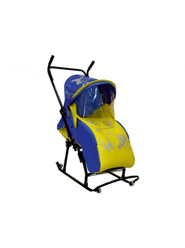Санки-коляска Скользяшки Кенгуру-7-Р Азбука