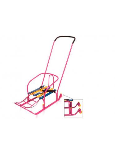Санки для детей Тимка 3 плюс с колесом