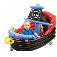 Сухой надувной бассейн Пиратский корабль + 50 шаров
