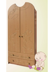 Детский шкаф № 2 фасады МДФ с детский рисунком