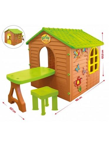 Игровой домик со столиком и стулом