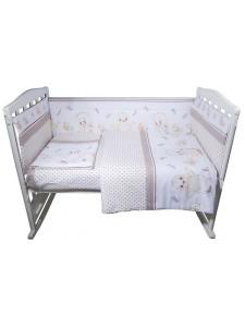 Комплект белья в кроватку Bambola Циплята бязь 6 пр