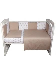 Комплект белья в кроватку Bambola Кубики универсальный 6 пр