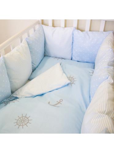 Комплект белья в кроватку Bytwinz Бриз 6 предметов