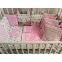 Комплект постельного белья в кроватку Нежный