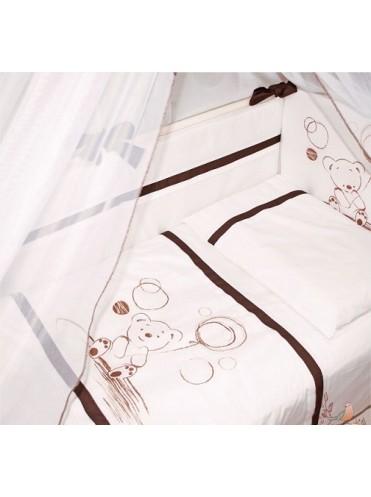 Комплект в кроватку Шоколадный мишка 6 предметов