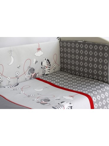 Комплект в кроватку Pituso Зебры 6 предметов