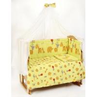 Комплект в кроватку Lider Kids Зоопарк (сатин) 7 предметов