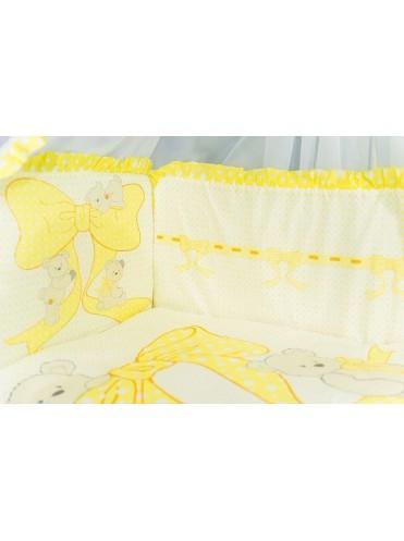 """Комплект для детской кроватки """"Мишки на бантах"""" (7 предметов)"""