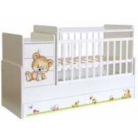 Кровать-трансформер детская Фея 1100 с декором
