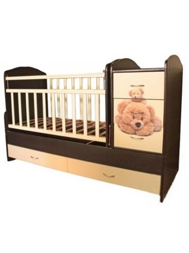 Детская кровать трансформер Мишки