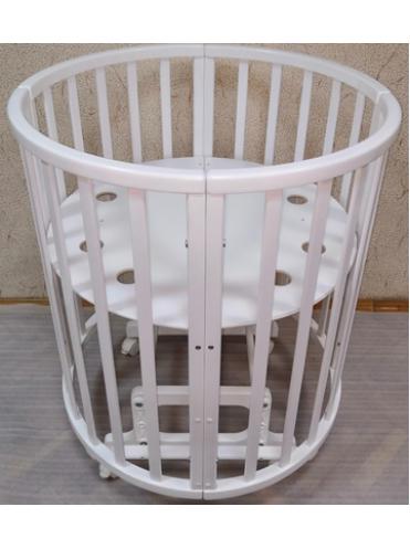 Круглая кроватка-трансформер Mika Art 7 в 1