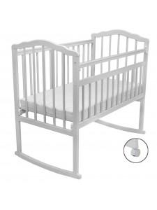 Детская деревянная кроватка Гном 2 колесо-качалка