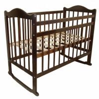 Детская кроватка Мой малыш Ивашка 4 колесо-качалка