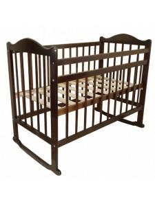 Детская кроватка Мой малыш 4 колесо-качалка