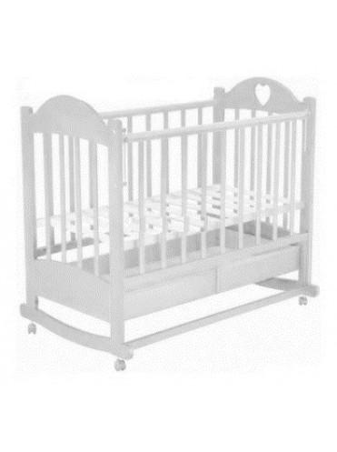 Детская кроватка Таисия 2 (автоспинка+колёса+качалка+ящик+ПВХ)
