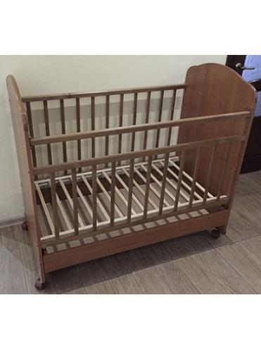 Детская кроватка Агат Золушка 9 (колесо+качалка+открытый ящик)