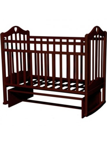 Детская деревянная кроватка Каролина-3 маятник поперечный