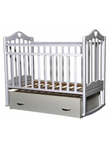 Детская деревянная кроватка Каролина-4 поперечный маятник